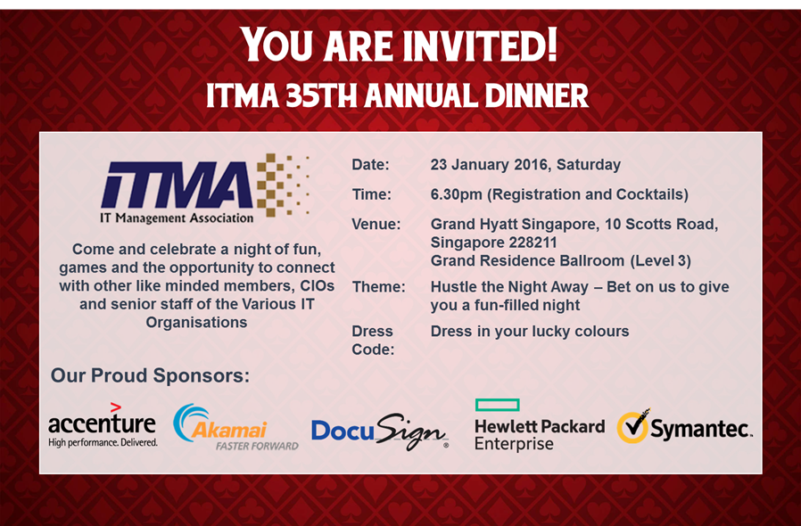 You are invited to ITMA 35th Annual Dinner!